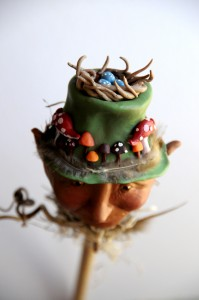A polymer clay hand sculpted Bloomingstacker