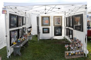 My tent at Banner Elk's Fine Art and Master Crafts Festival