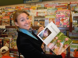 Me looking at magazine in Barnes and Noble