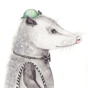 The Black Tie Opossum, 3 1/2