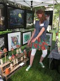 picture of me at the art show