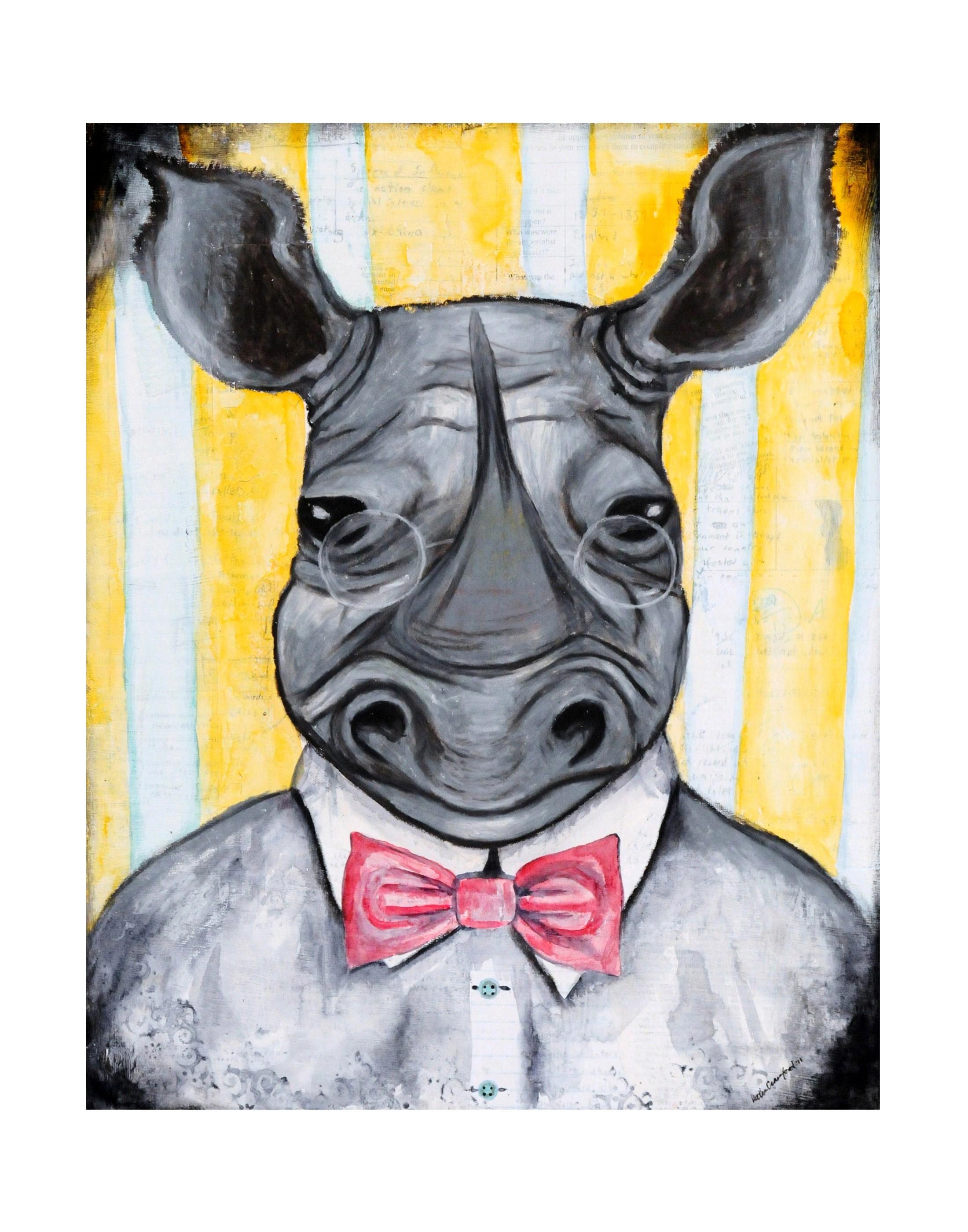 mixed media animal art