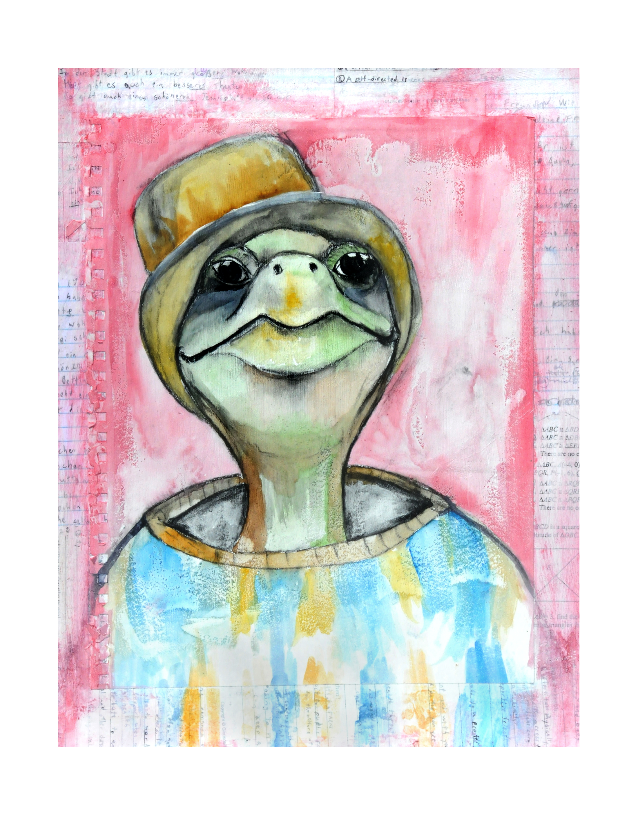 Frank, mixed media animal art print