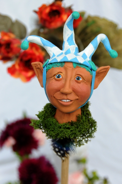 Bloomingstacker, hand sculpted art doll