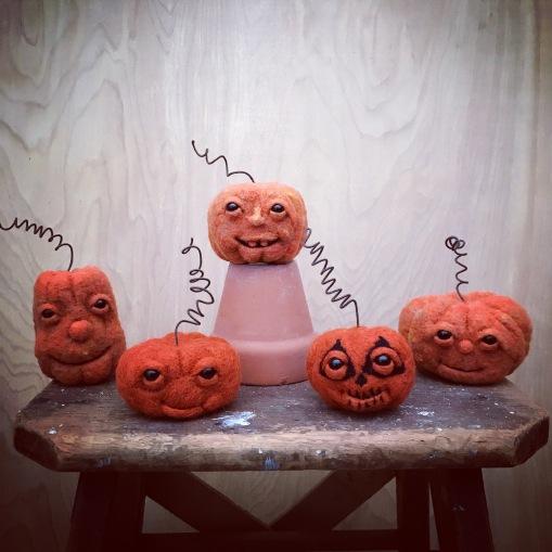 Felted Pumpkins