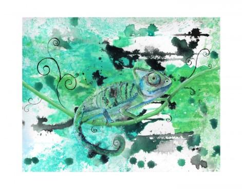 mixed media art print