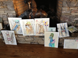 watercolor paintings done on vacation