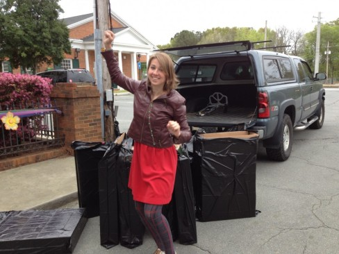I was excited the trash bags fit my boxes-it was going to rain.