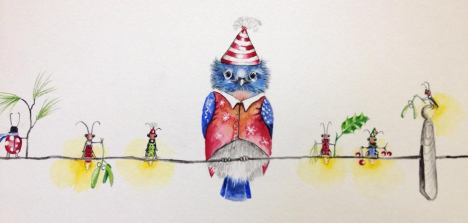 A Line Full of Cheer, unframed watercolor originalI am representing this piece so feel free to email me klc.crawford@gmail.com for pricing.