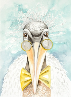 "Eureeka Stork, unframed 11""x14"" watercolor painting. I am currently representing this piece so feel free to contact me at klc.crawford@gmail.com"